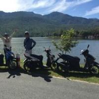 レンタルバイクでフェイトンタオ湖へ