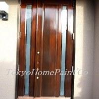 YAMAHA木製玄関ドア 同種4枚それぞれ