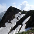 唐松山荘と雪渓