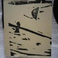 ことりあさのつき 版画絵日記より 12月22日木 木版画