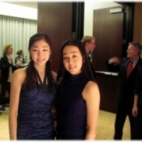 キム・ヨナのスッピン顔および浅田選手とのツーショット