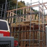 建て方作業中