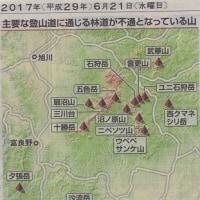 登山道が28路線が通行止め(北海道内)