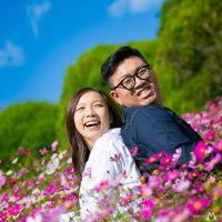本日は晴天なり! engagement photo from HK @能古島アイランドパークでエンゲージメントフォト