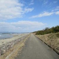 We walked along the coast.