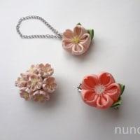季節感があるお花のつまみ細工(桜)