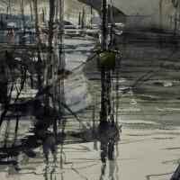 「 佃島の運河 1 」 fraction