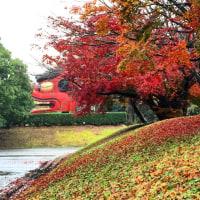 紅葉の日本一の獅子頭