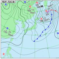 2月24日 アメダスと天気図。