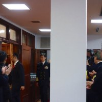 祝賀会と鳥人幸吉の話〜潜水艦救難艦「ちはや」進水式