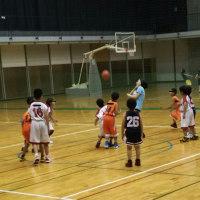 息子の部活 ミニバスケットボールの練習試合にいってきました。