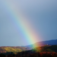 「大雪」の日に虹の架かれる