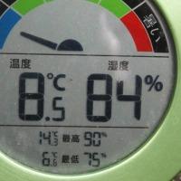 平成29年4月27日・今朝の東祖谷8.5℃