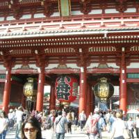 浅草は、浅草寺に行ってきました。