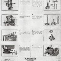 CARTER  YF CARBURETOR のサービスマニュアルについて