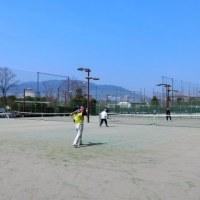 今日の「テニス」は4時間です