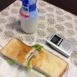 朝食 健康診断だったので朝食時間は1030