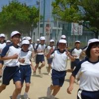 今日から全校マラソン