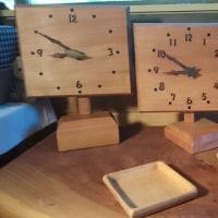 ミズメ桜の掛け・置き時計&楓のトレー