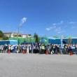 2000人が結集し、キャンプ・シュワブを包囲。新基地反対の声を上げる。