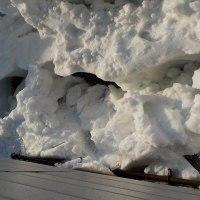 家の裏の雪が大変なことになってた