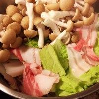 2016年12月1日   白菜と豚バラ鍋  燻製風味玉子