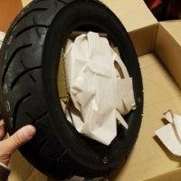 スクーターの出張タイヤ交換で使用するタイヤ在庫