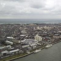 日本海と信濃川