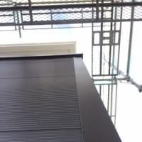 岡山市街地での外装工事も完工間近