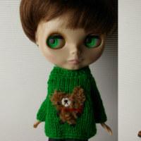 綺麗なグリーンのセーターです