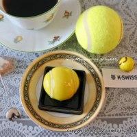 K・SWISSのテニスボールの和生菓子でテイータイム