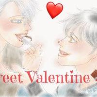 【ユーリ!!!】宿題(番外編2)『Sweet Valentine♪』 #yurionice