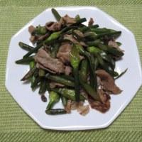 豚バラとニンニクの芽の炒め物