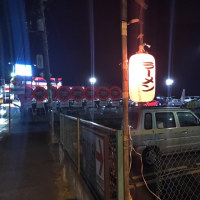 衝撃の屋台ラーメン、ななし@北総線大町駅、プレハブの中のインドア屋台は市川市で客席は松戸市の市境、電気は松戸市から