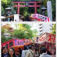 久しぶりの再会と根津神社