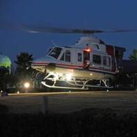 愛知県防災ヘリコプターとの夜間離着陸訓練(25日 田原市その三)