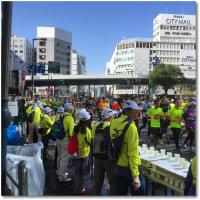 大阪マラソンで会社の前の道が・・・