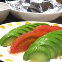 夕飯◆さごしのホイル焼き、白和え、トマト&アボカド