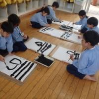 おれんじ 5歳児 壁面製作(たけのこ)