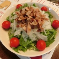 鮭ソテー~バター炒め野菜添え&水菜とベーコンのマヨポンサラダ
