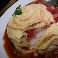 野菜ゴロゴロトマトソースオムライス(^∀゜~☆)