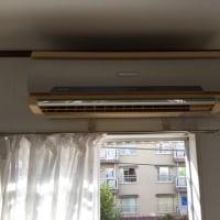 熊本 アパート宿舎家の公費解体前のエアコン取外し処分‼️