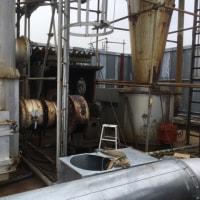 ゴミ収集所の 焼却炉 煙突の交換作業 茨城 龍ヶ崎