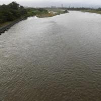 多摩川の水の流れ