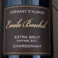 CREMANT D'ALSACE  EXTRA BRUT 2011 Emile Boeckel Chardonnay