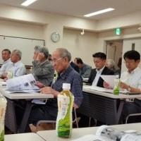 松川村消防団のポンプ操法訓練を激励と日中友好協会総会