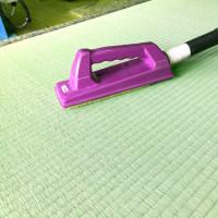 畳を専用ブラシで拭き取り仕上げで直ぐ使えます