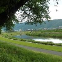 川沿いを行く