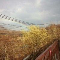 羊蹄山と虹・・・・