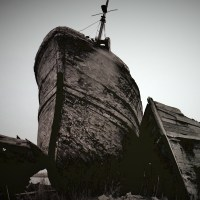 石狩川河口の廃船Ⅱ